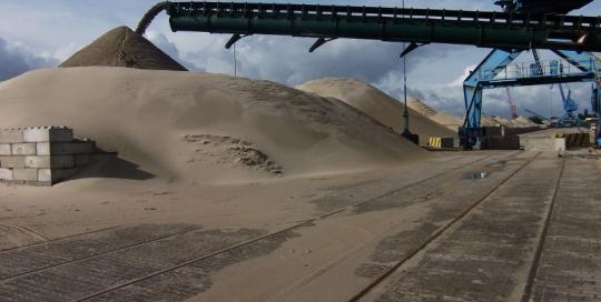 Gent – Opmeting stock zand